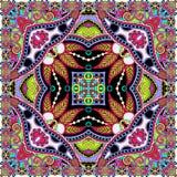 Traditional ornamental floral paisley bandanna Stock Photos