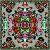 Traditional ornamental floral paisley bandanna Royalty Free Stock Image