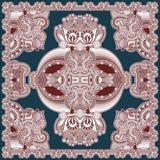 Traditional ornamental floral paisley bandanna. Royalty Free Stock Photography
