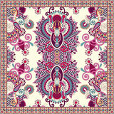 Traditional ornamental floral paisley bandanna Royalty Free Stock Image