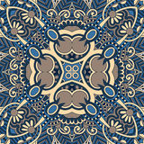 Traditional ornamental floral paisley bandanna. You can use this pattern in the design of carpet, shawl, pillow, cushion stock illustration