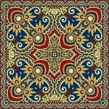 Traditional ornamental floral paisley bandanna. Stock Photos