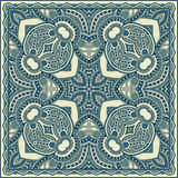 Traditional ornamental floral paisley bandanna. Royalty Free Stock Image