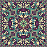 Traditional ornamental floral paisley bandanna Royalty Free Stock Photo