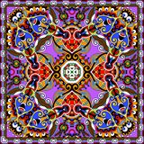 Traditional ornamental floral paisley bandanna Stock Images