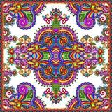 Traditional ornamental floral paisley bandanna Royalty Free Stock Photo
