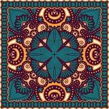 Traditional ornamental floral paisley bandanna Royalty Free Stock Photography