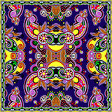 Traditional ornamental floral paisley bandanna. Stock Images