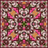 Traditional ornamental floral paisley bandanna. Royalty Free Stock Photo