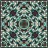 Traditional ornamental floral paisley bandanna Stock Images
