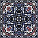Traditional ornamental floral paisley bandanna Royalty Free Stock Photography