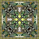 Traditional ornamental floral paisley bandanna. Royalty Free Stock Images