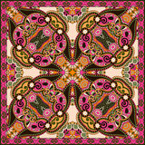 Traditional ornamental floral paisley bandanna. Stock Images