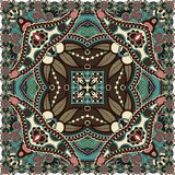Traditional ornamental floral paisley bandanna. Royalty Free Stock Photography