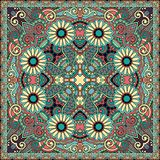 Traditional ornamental floral paisley bandanna Royalty Free Stock Images