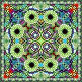 Traditional ornamental floral paisley bandanna. Stock Photos