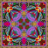 Traditional ornamental floral paisley bandanna. Royalty Free Stock Photos