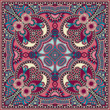 Traditional ornamental floral paisley bandanna. You can use this pattern in the design of carpet, shawl, pillow, cushion vector illustration