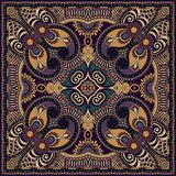 Traditional ornamental floral paisley bandanna. Royalty Free Stock Photos