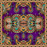 Traditional ornamental floral paisley bandanna. Stock Image