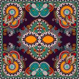 Traditional ornamental floral paisley bandanna Stock Image
