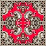 Traditional ornamental floral paisley bandanna Stock Photo