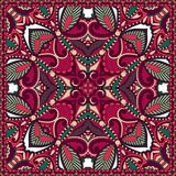 Traditional ornamental floral paisley bandanna. Royalty Free Stock Photo