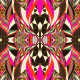 Traditional ornamental paisley bandanna. Hand drawn background with artistic pattern. Bright colors. Royalty Free Stock Images