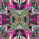 Traditional ornamental paisley bandanna. Hand drawn background with artistic pattern. Bright colors. Stock Image