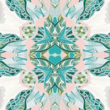 Traditional ornamental paisley bandanna. Hand drawn background with artistic pattern. Stock Photos