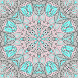 Traditional ornamental paisley bandanna. Hand drawn background with artistic pattern. Royalty Free Stock Image