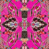 Traditional ornamental paisley bandanna. Hand drawn colorful aztec pattern with artistic pattern. Stock Photography