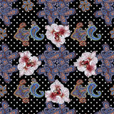 Traditional ornamental seamless background. Paisley design Stock Images