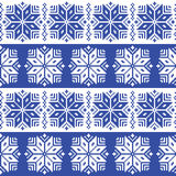 Traditional ornamental winter navy knitted pattern - Nordic style Royalty Free Stock Photos