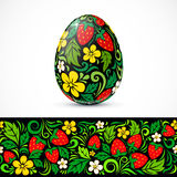 Traditional ornate easter eggs sticker design Stock Photography