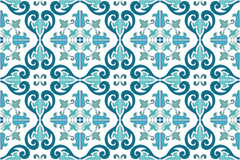 Traditional ornate portuguese and brazilian tiles azulejos. Vector illustration. Stock Image