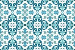 Traditional ornate portuguese and brazilian tiles azulejos. Vector illustration. Stock Image
