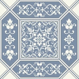 Traditional ornate portuguese decorative tiles azulejos. Vintage pattern. vector illustration