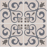 Traditional ornate portuguese decorative tiles azulejos. Vintage pattern. Stock Images