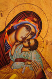 Traditional orthodox icon of Mother Mary. The Icon a Mother of God (Mary) and child (Jesus Christ Royalty Free Stock Image
