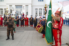 Traditional Ottoman army band Stock Photography