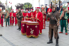 Traditional Ottoman army band Royalty Free Stock Photography