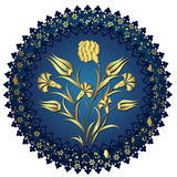 Traditional ottoman gold design Stock Image
