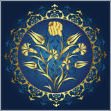 Traditional ottoman gold design. Traditional ottoman gold illustration design Royalty Free Stock Photography