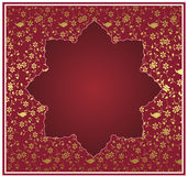 Traditional ottoman gold design Stock Images