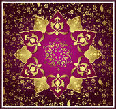 Traditional ottoman gold design Stock Photography