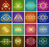 Traditional ottoman turkish tile illustration Stock Photography
