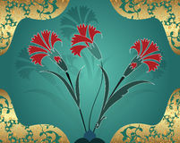 Traditional ottoman turkish tile illustration Royalty Free Stock Photo