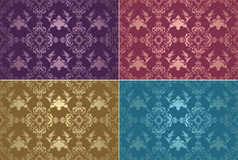 Traditional ottoman turkish tile illustration Royalty Free Stock Image