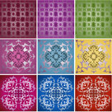 Traditional ottoman turkish tile illustration Stock Image
